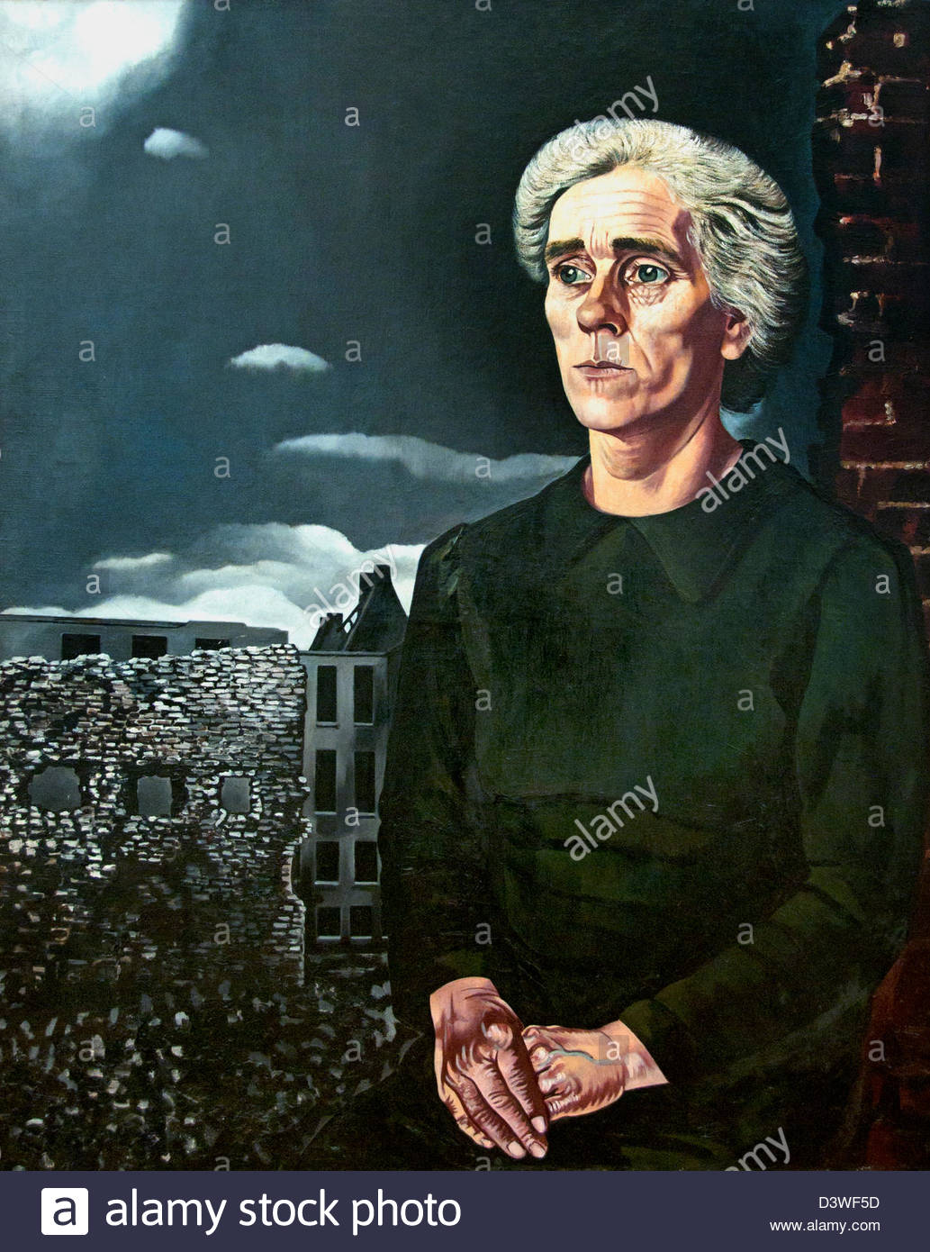 Working class woman   by Charley Toorop  Dutch Painter The Netherlands - Stock Image