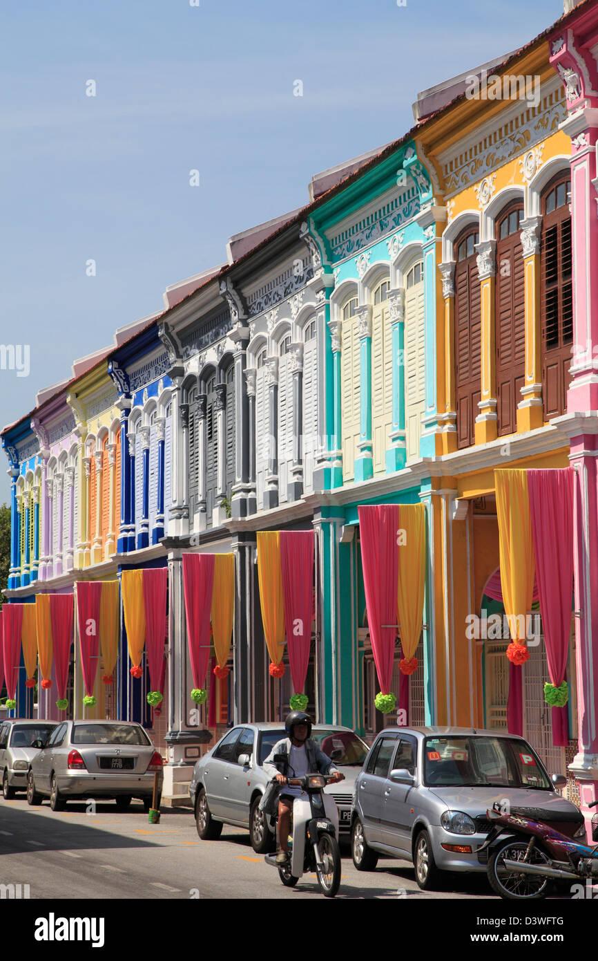 Malaysia, Penang, Georgetown, street scene, shophouses, - Stock Image