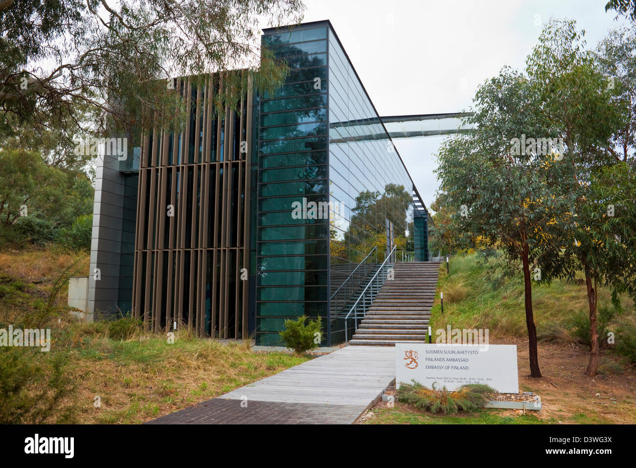 The Embassy of Finland. Yarralumla, Canberra, Australian Capital Territory (ACT), Australia - Stock Image