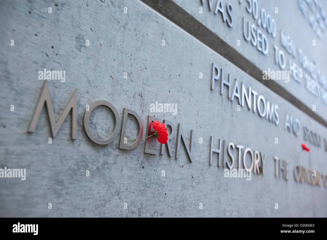 Red poppy at the Australian Vietnam Forces National Memorial. Canberra, Australian Capital Territory (ACT), Australia - Stock Image