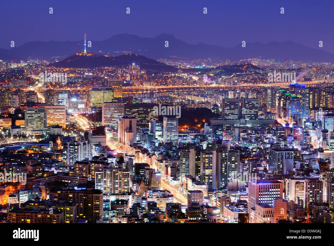 Downtown Seoul, South Korea skyline Stock Photo: 54036966 ... - photo#32