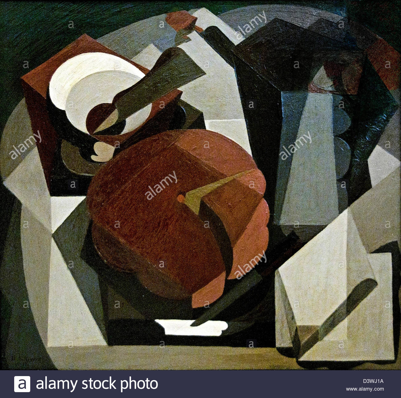 The Meager Table 1917 Diego Rivera Mexican Mexico - Stock Image