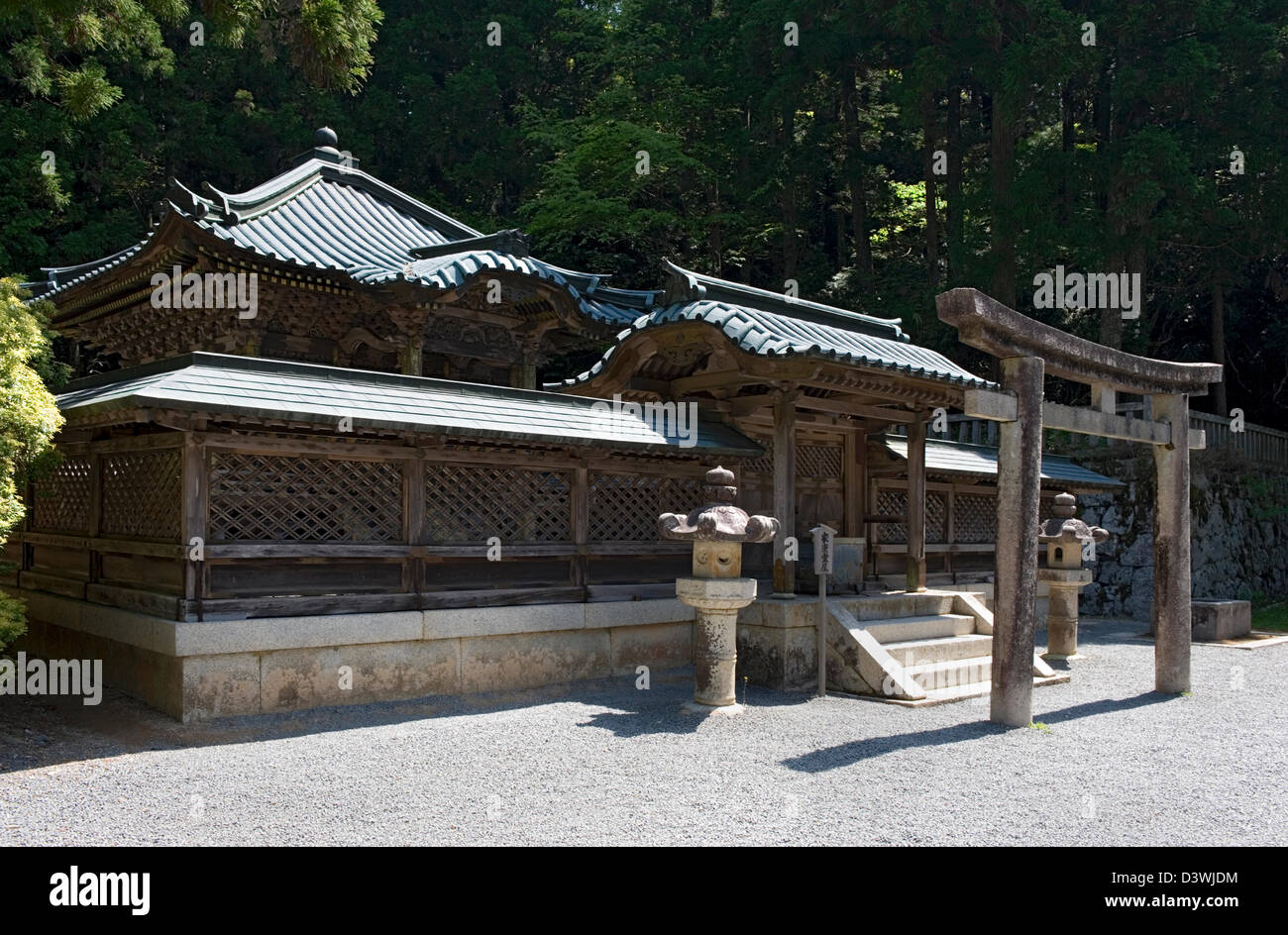 Tokugawa family mausoleum on Mount Koya built by shogun Tokugawa Iemitsu for father Hidetada and grandfather Tokugawa - Stock Image