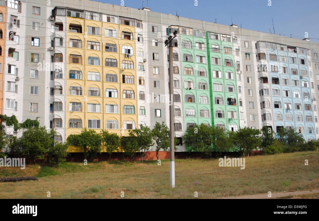 Ukraine. Autonomous Republic of Crimea. Kerch. Buildings at outskirts. - Stock Image