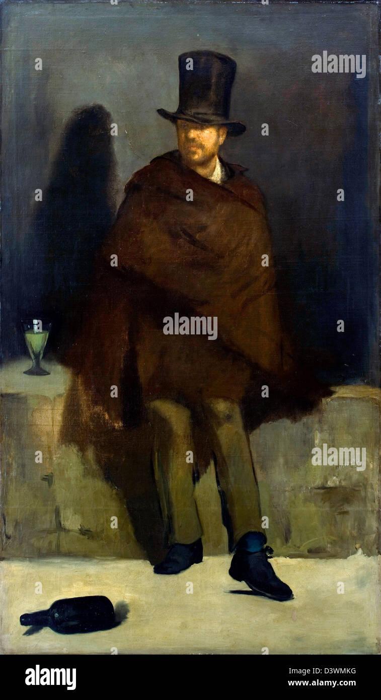 Edouard Manet, The Absinthe Drinker 1859 Oil on canvas. Ny Carlsberg Glyptotek, Copenhagen - Stock Image