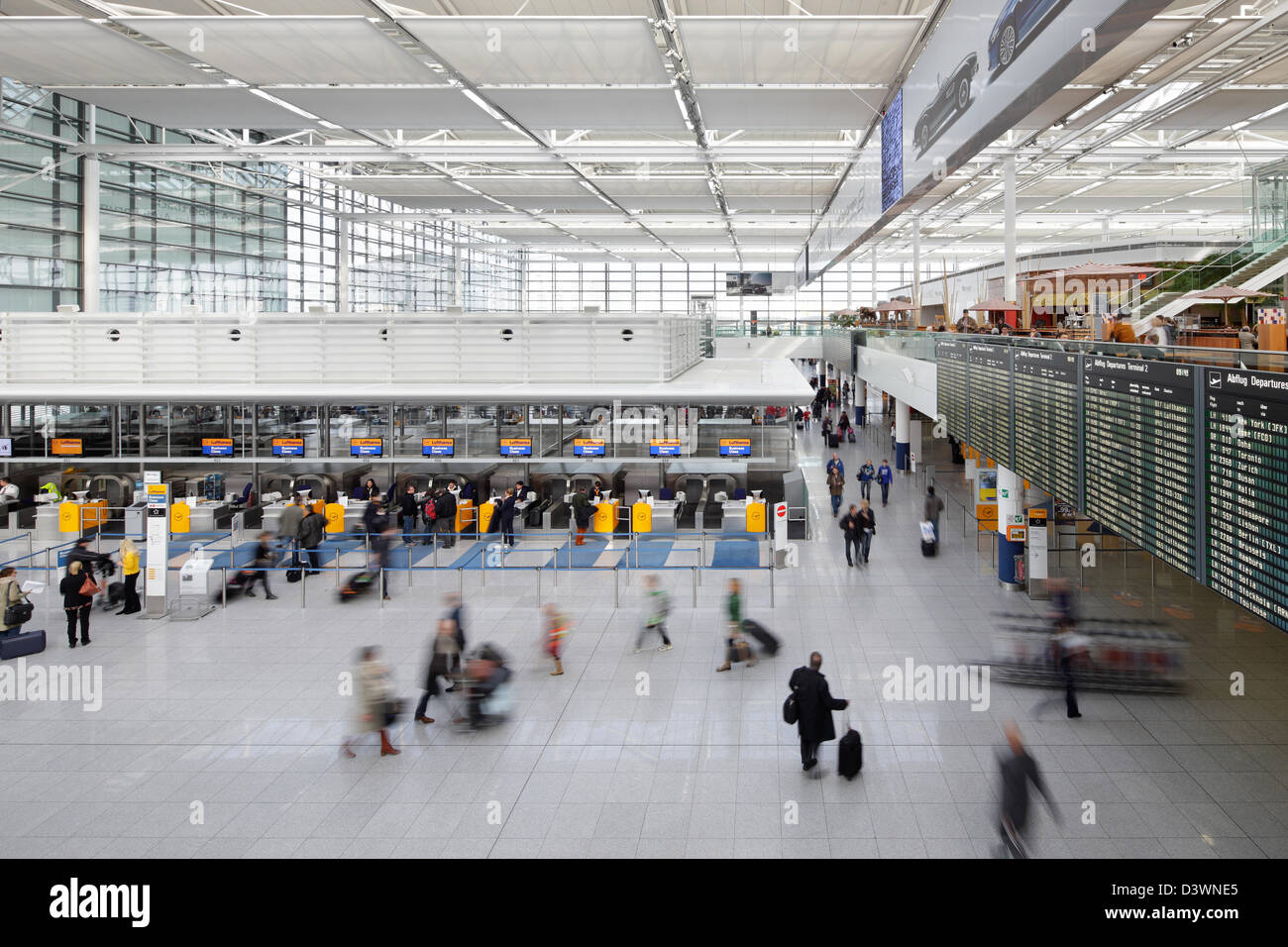 munich germany departure hall terminal 2 at munich airport stock photo 54040733 alamy. Black Bedroom Furniture Sets. Home Design Ideas