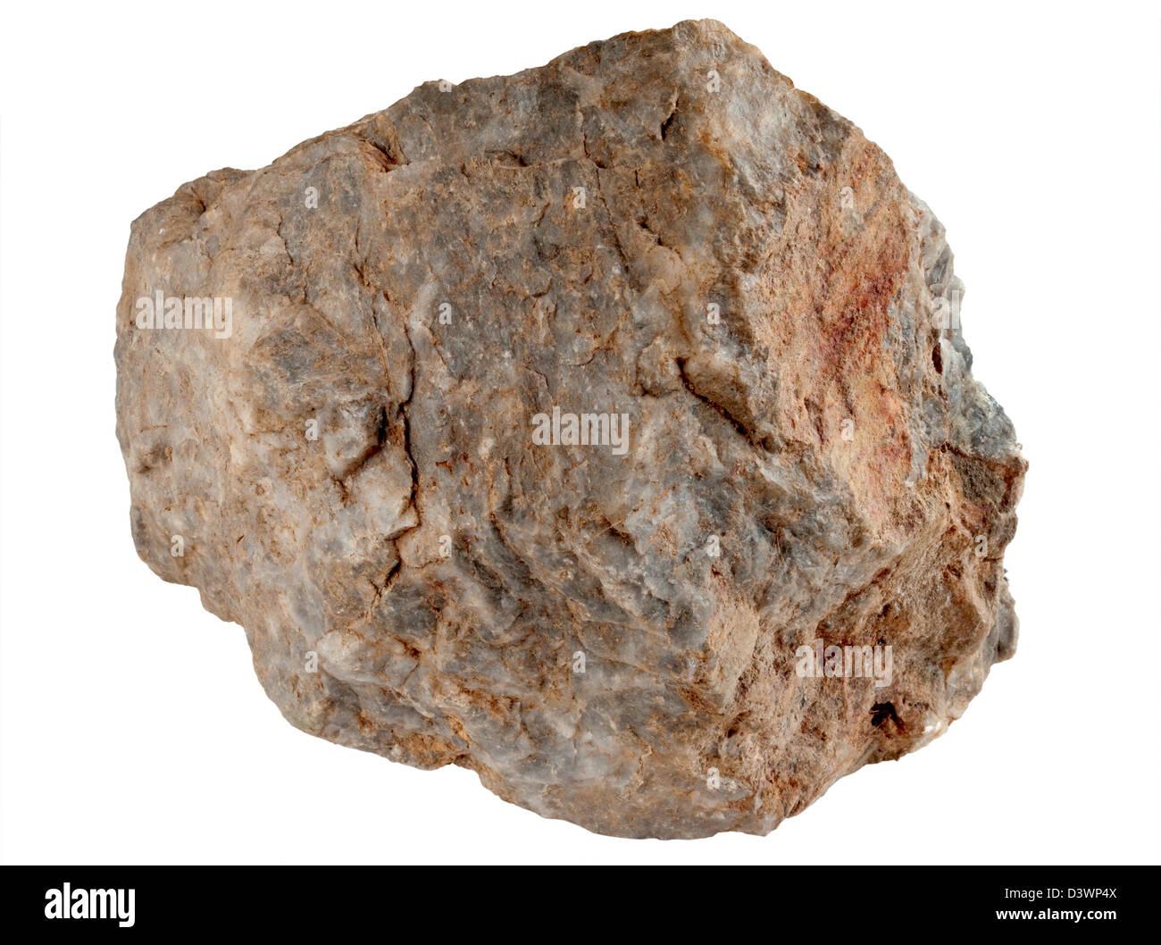 Large Rock Stone Isolated On A White Background Stock Photo