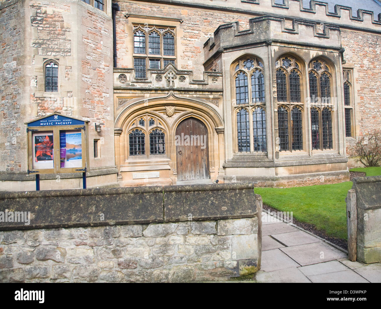 Wells Cathedral School music faculty housed in historic building in part dating back to 1500s, Wells, Somerset, - Stock Image