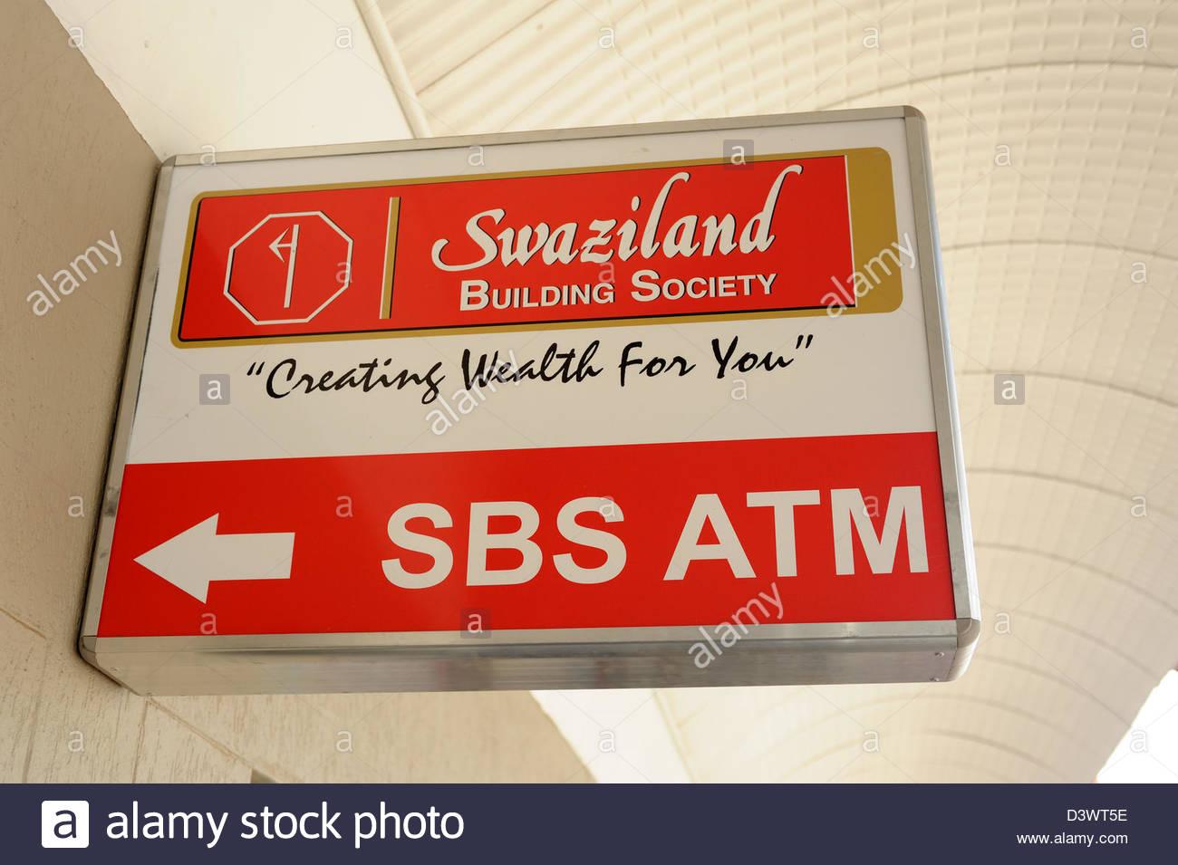 Mbabane Swaziland Swaziland Building society ATM machine - Stock Image
