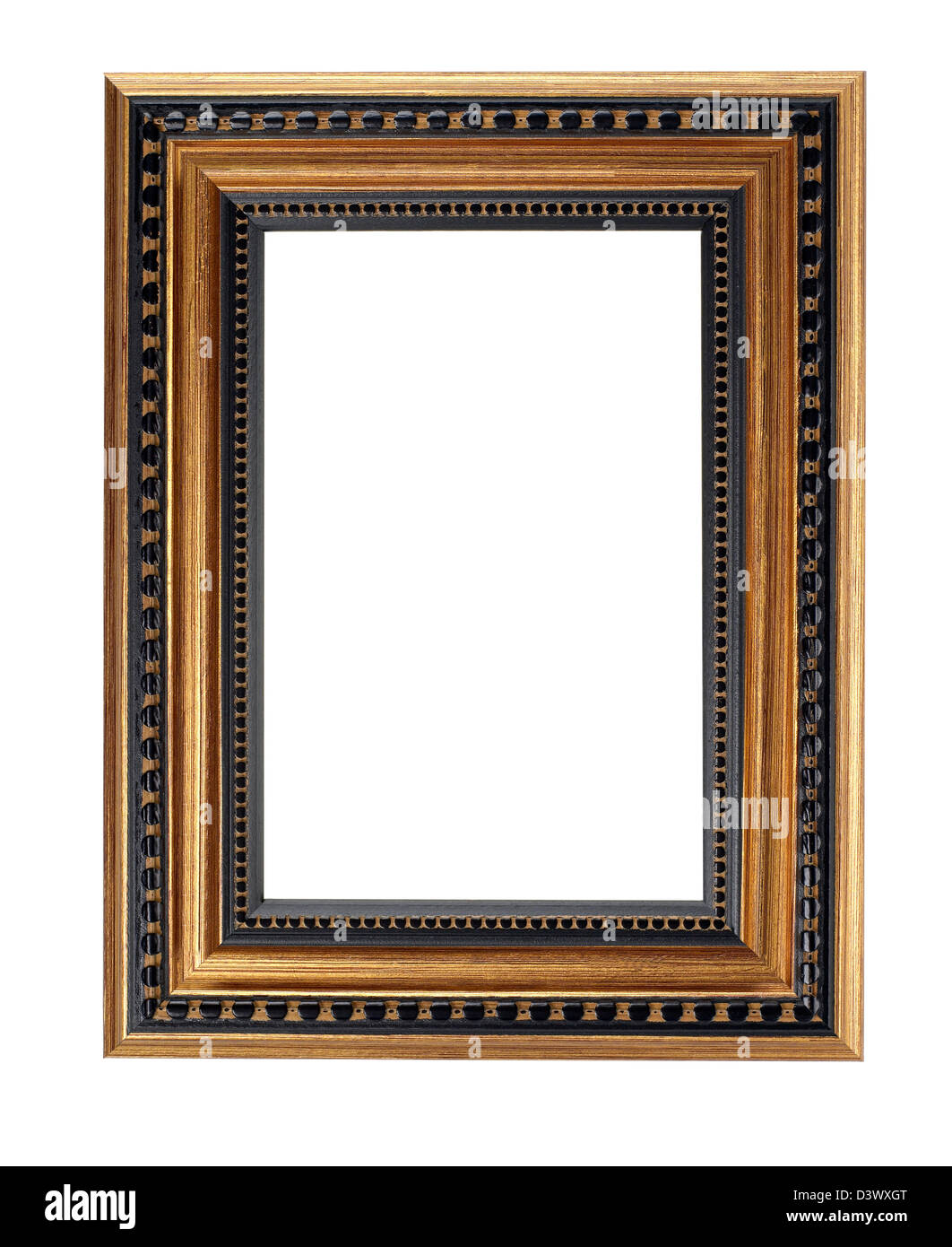 1af87b294fa6 gold and black wood Picture frame Stock Photo  54044728 - Alamy