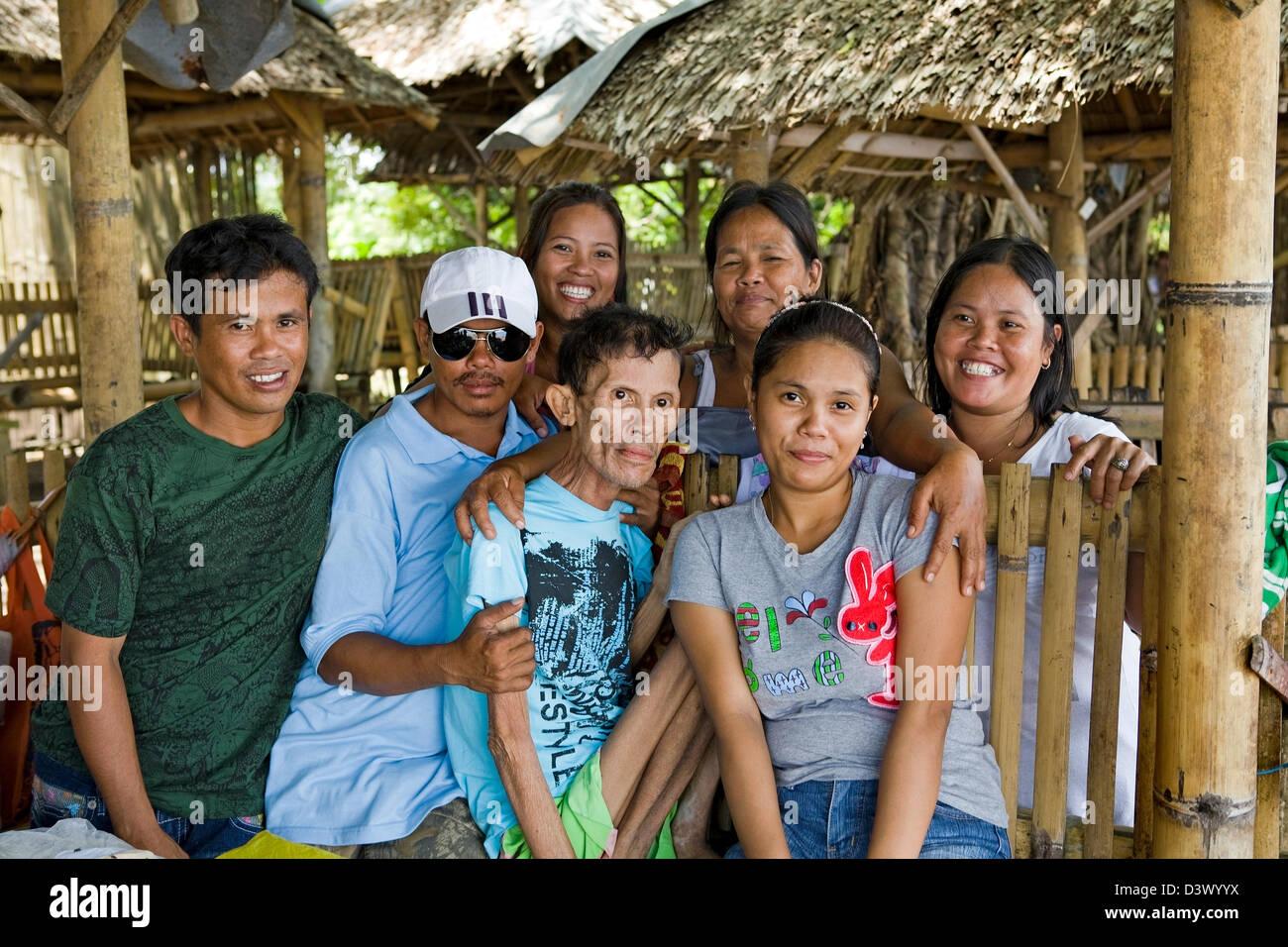 Philippine Islands Family Portrait - Stock Image