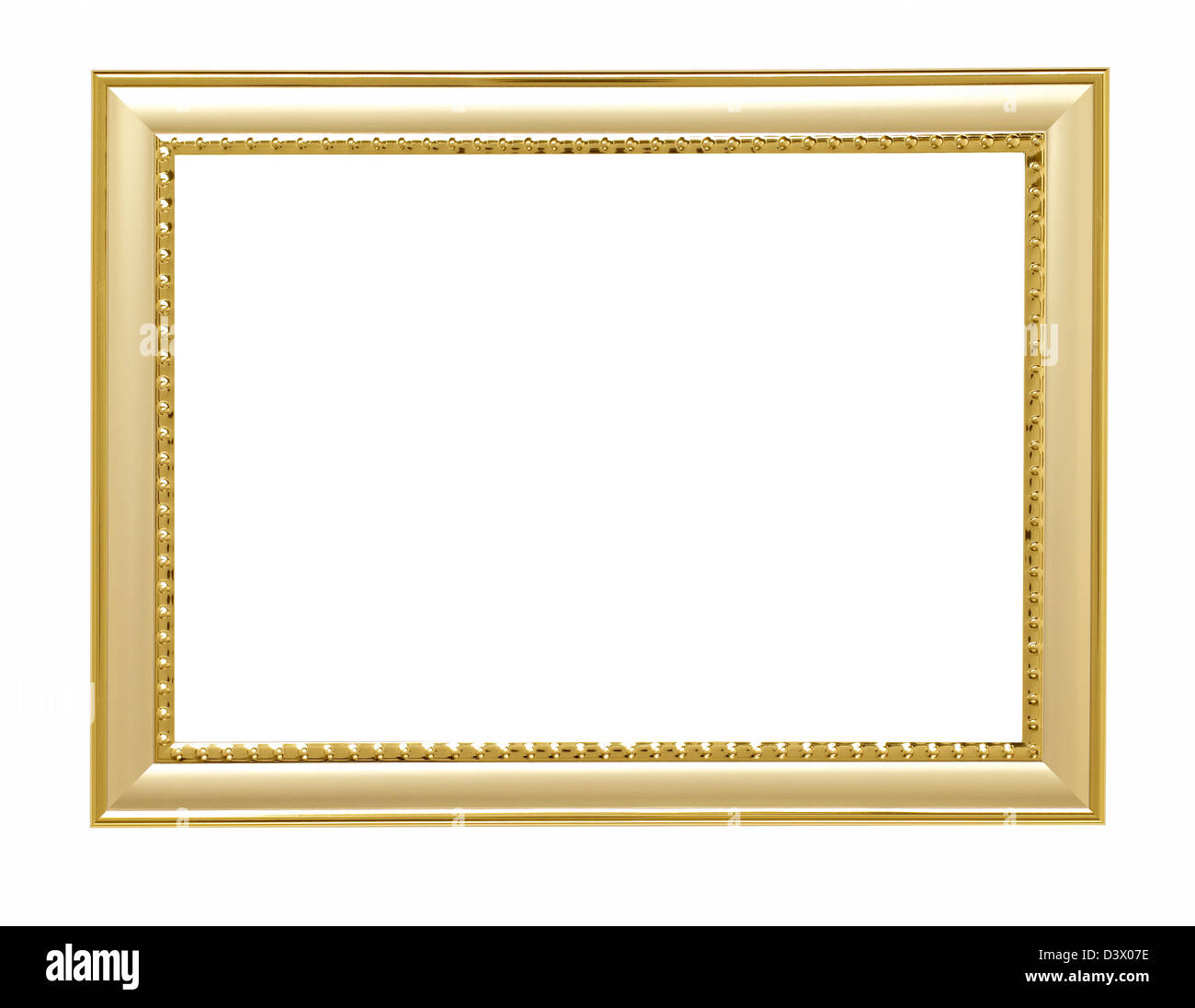 gold metal Picture frame - Stock Image