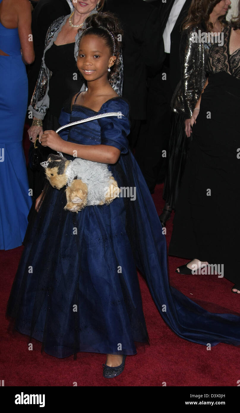QUVENZHANE WALLIS 85TH ACADEMY AWARDS ARRIVALS DOLBY THEATRE LOS ANGELES CALIFORNIA USA 24 February 2013 - Stock Image