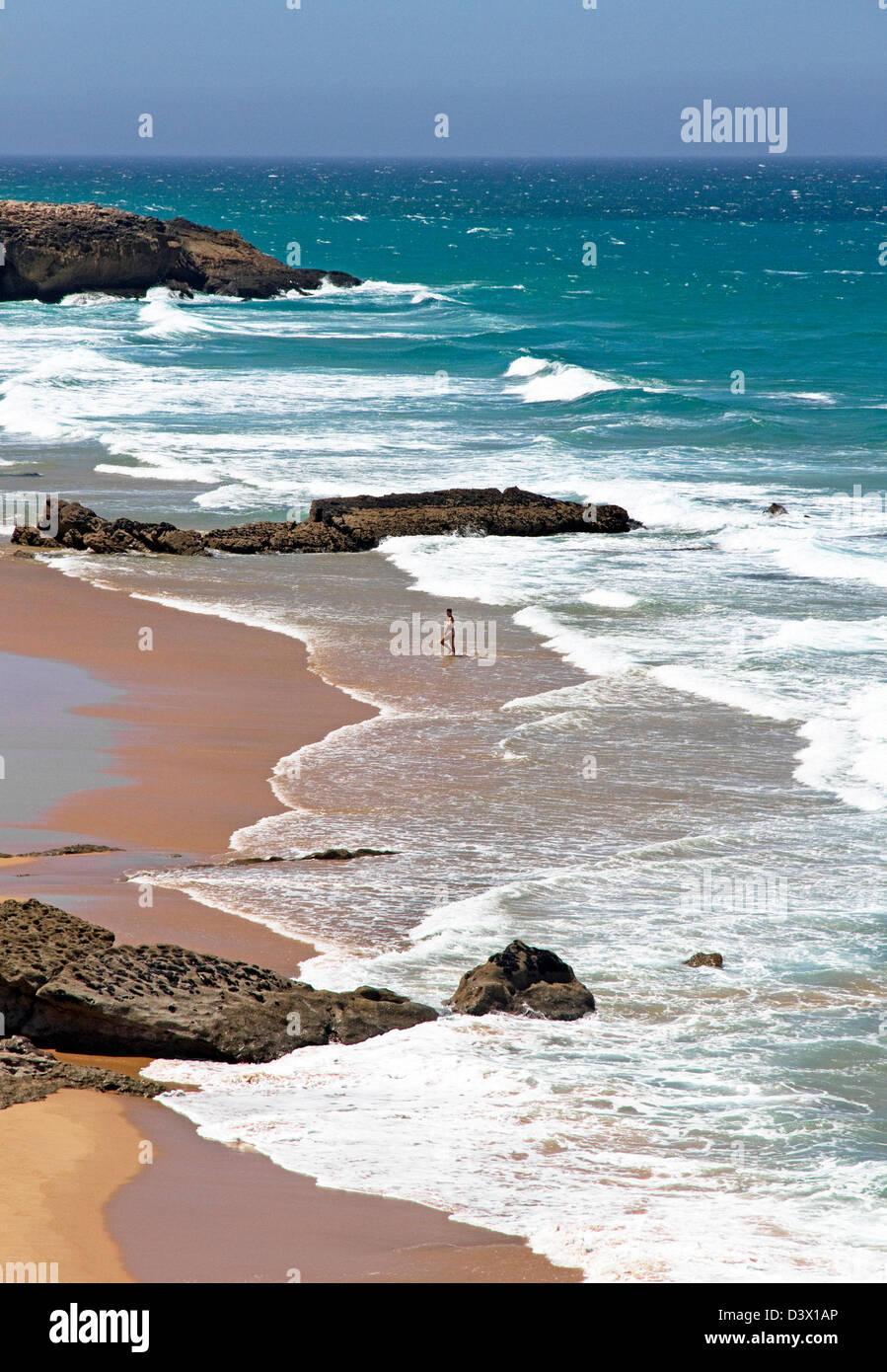 Praia da Cresmina ( part of Guincho Beach), Cascais, Lisbon Coast, Portugal Stock Photo