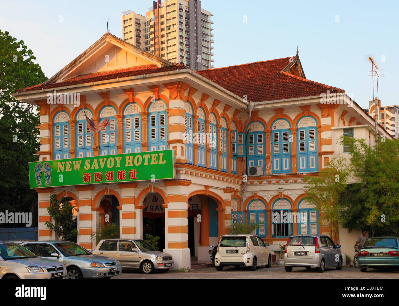 Malaysia, Penang, Georgetown, New Savoy Hotel, restored historic architecture, - Stock Image