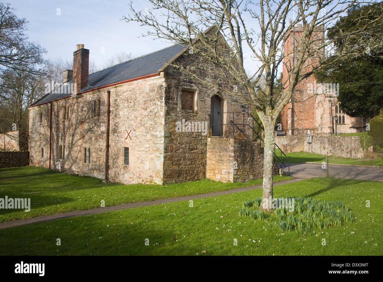 Sixteenth century church house building, Crowcombe, Somerset, England - Stock Image