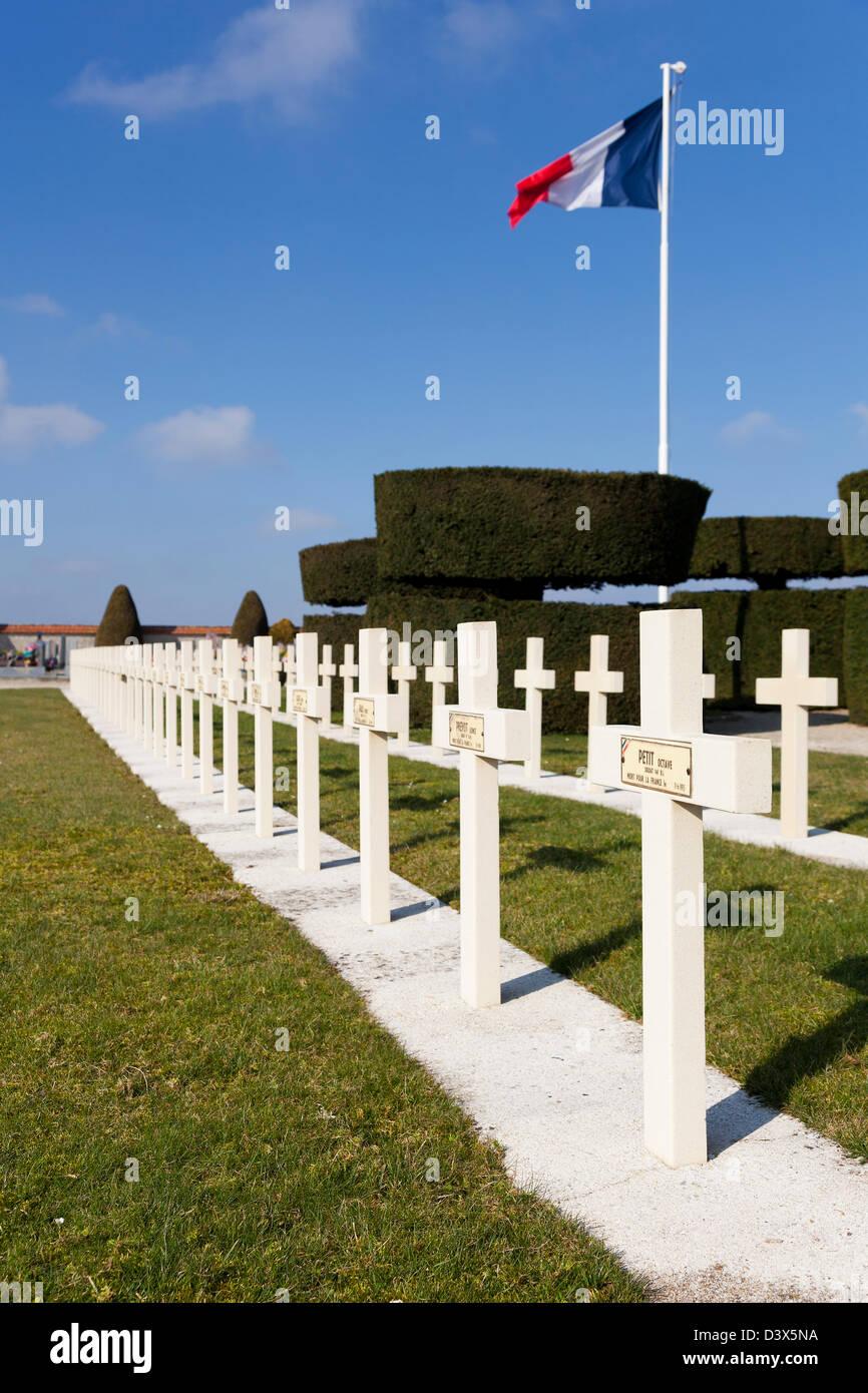Provins cemetery, Seine et marne, Ile de France, France - Stock Image