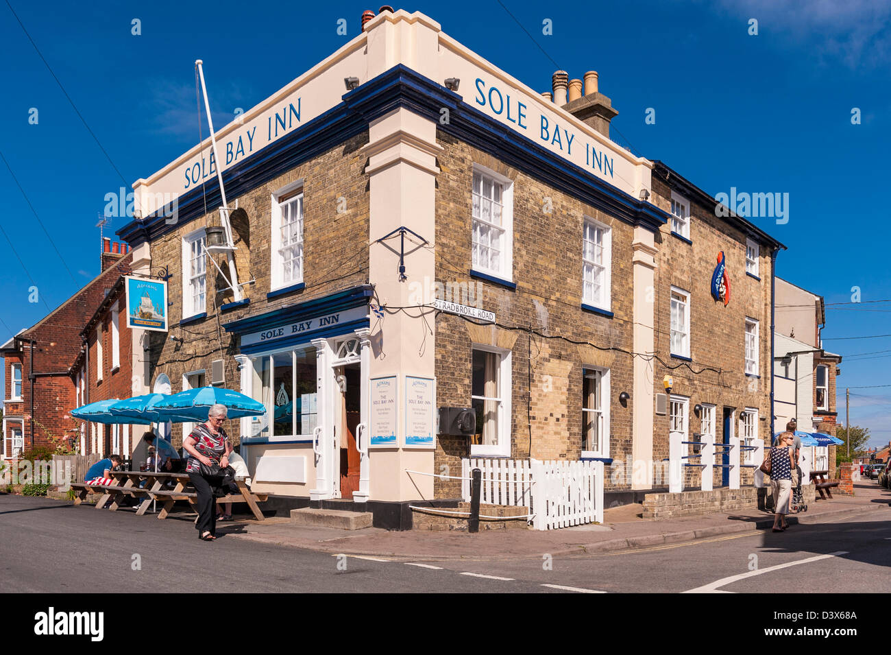 The Sole Bay Inn pub at Southwold , Suffolk , England , Britain , Uk - Stock Image