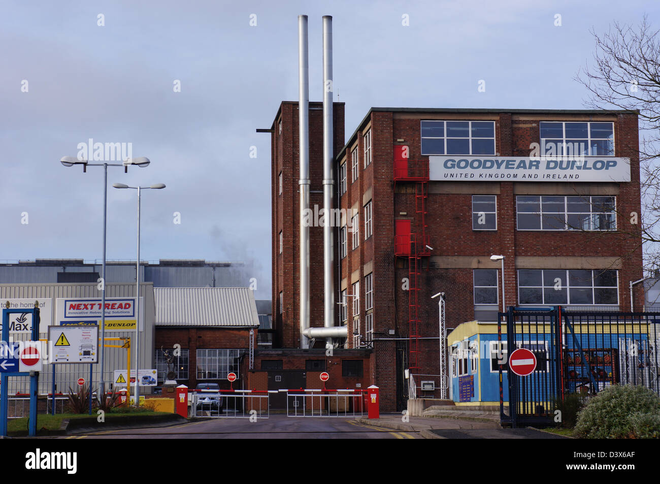 Goodyear / dunlop tyre and retreading factory wolverhampton - once employing over 4000 people now employs around - Stock Image