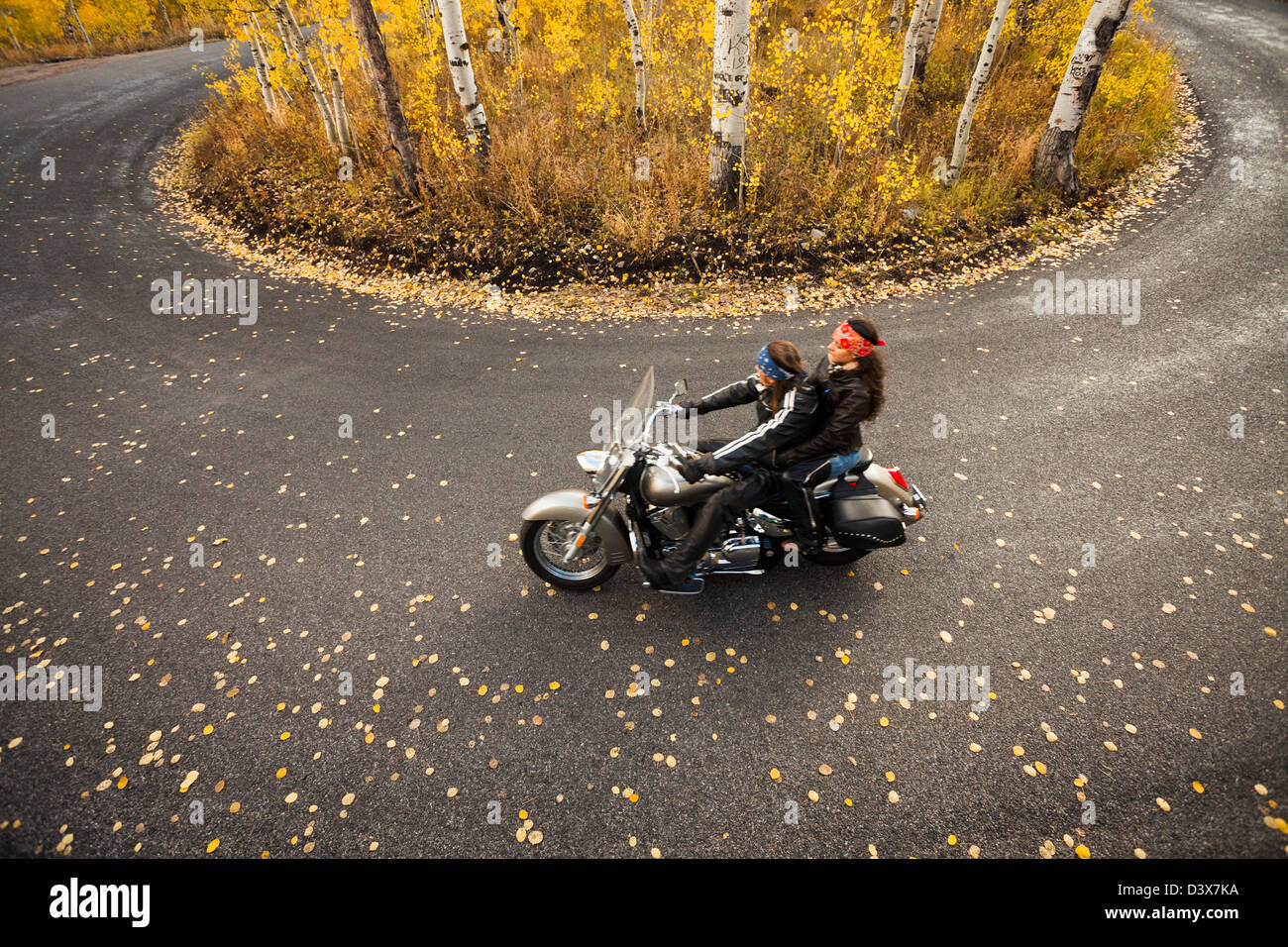 Husband Wife Riding Motorcycle High Resolution Stock Photography And Images Alamy