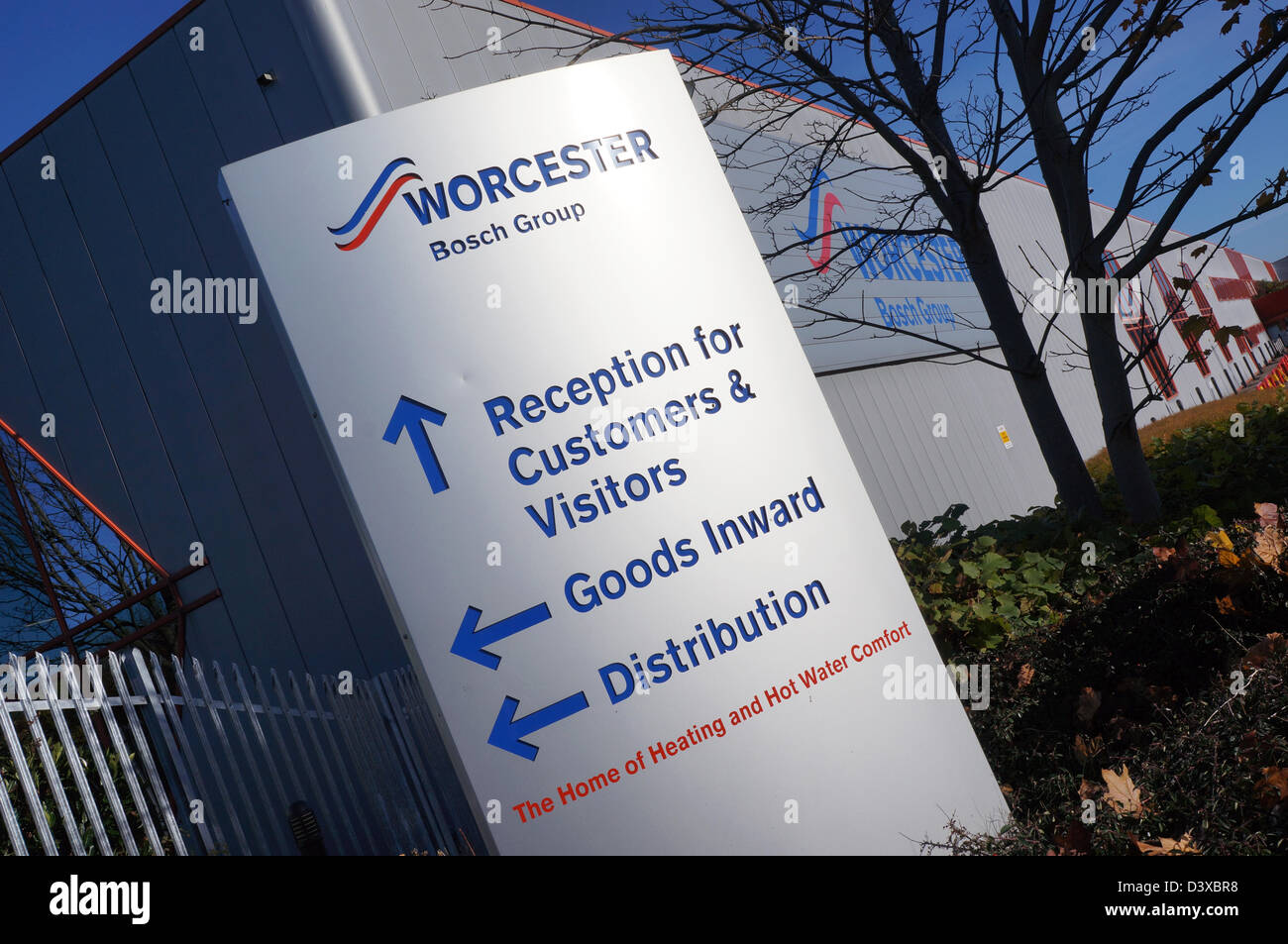 Worcester heat systems - worcester bosch group head office, factory at in Worcester - dec 2012 - Stock Image
