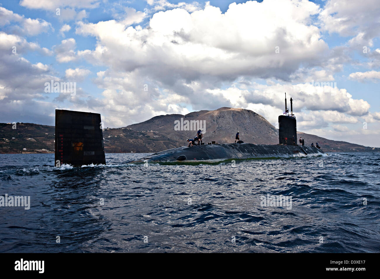 Nuclear Submarine HMS Talent on Egyptian coastline - Stock Image