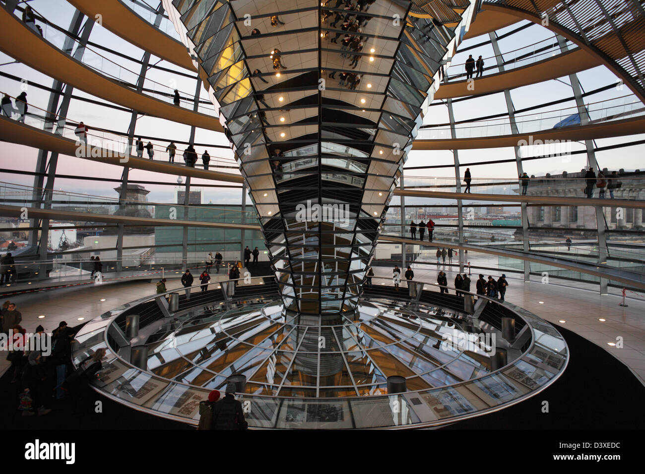 Berlin, Germany, visitors to the Reichstag dome Stock Photo