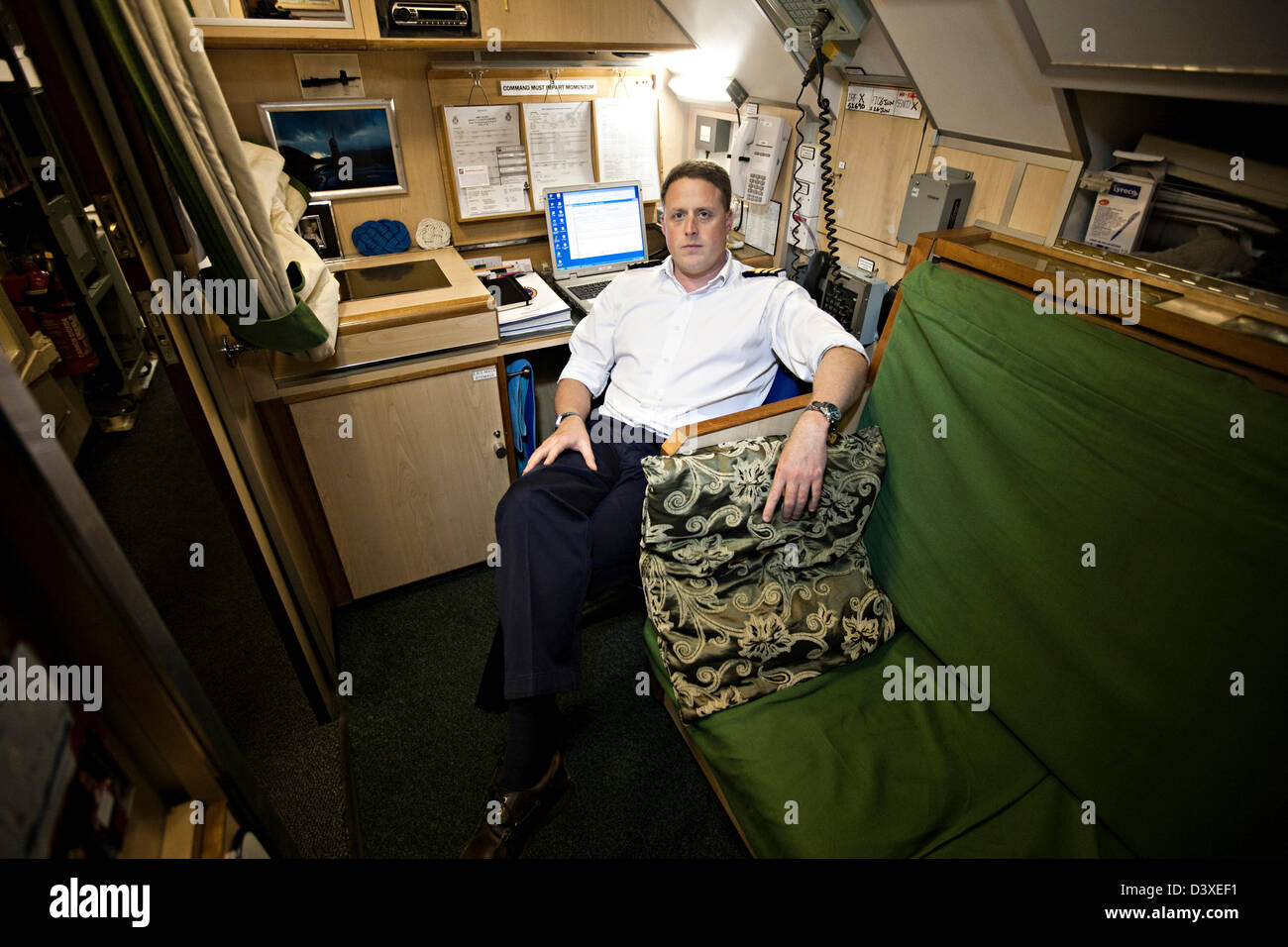 officers cabin on nuclear submarine hms talent stock photo 54057221