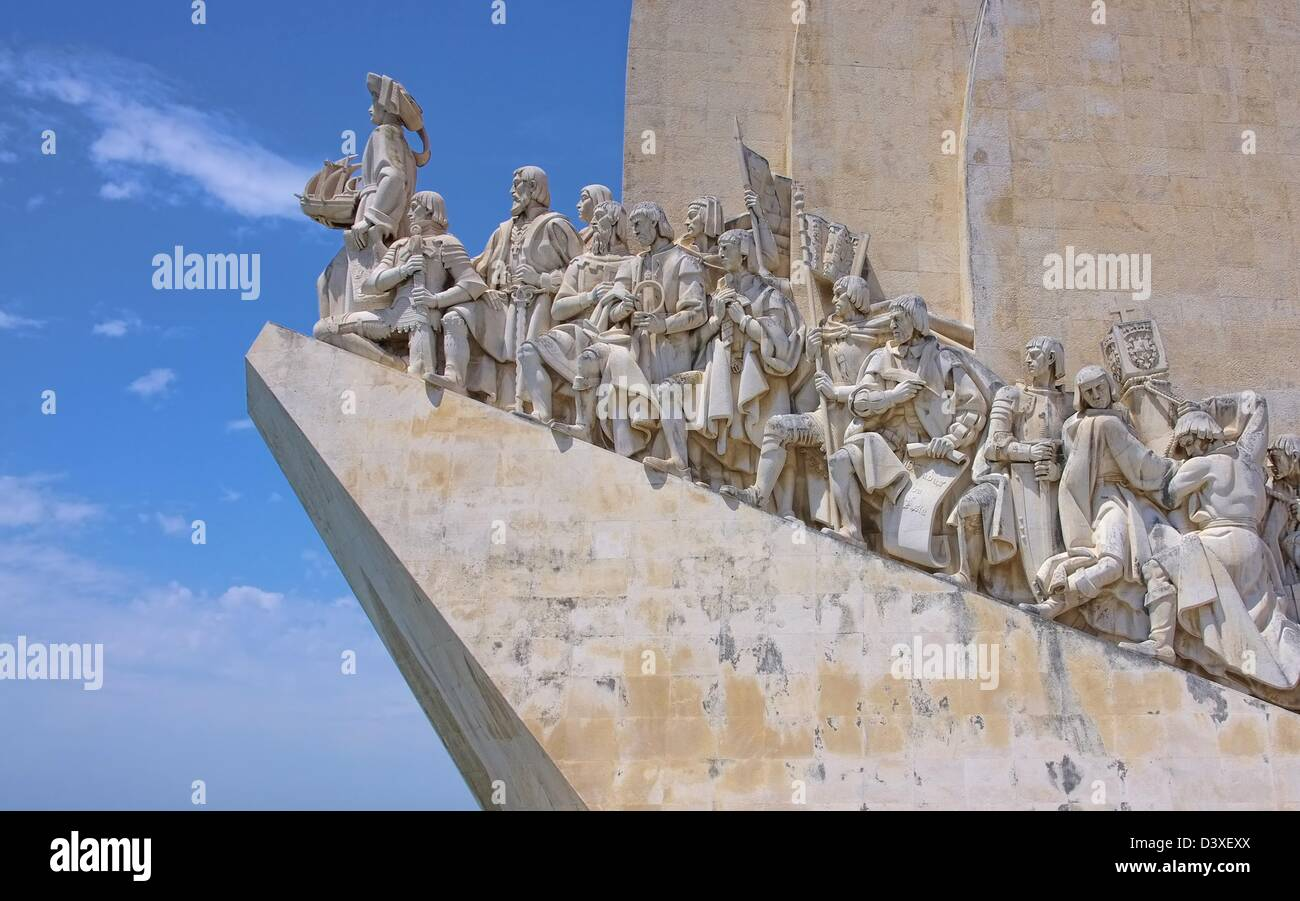Lissabon Denkmal der Entdeckungen - Lisbon Monument to the Discoveries 05 - Stock Image