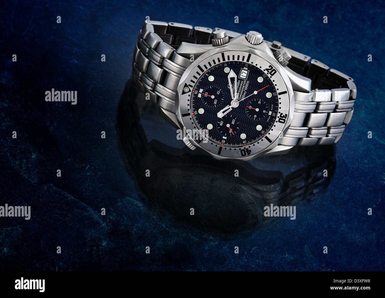 OMEGA Gents 300 M Chronograph Diver Watch - Stock Image