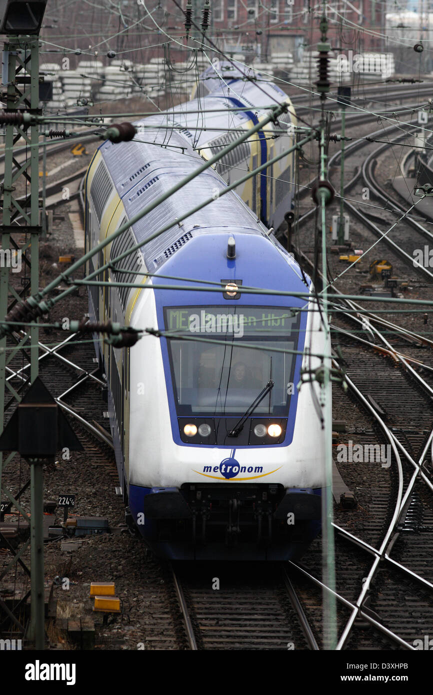 Hamburg, Germany, distance train the private railway company Metronome - Stock Image