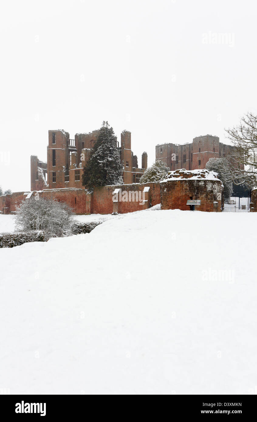 Kenilworth Castle. Warwickshire. England. UK. - Stock Image