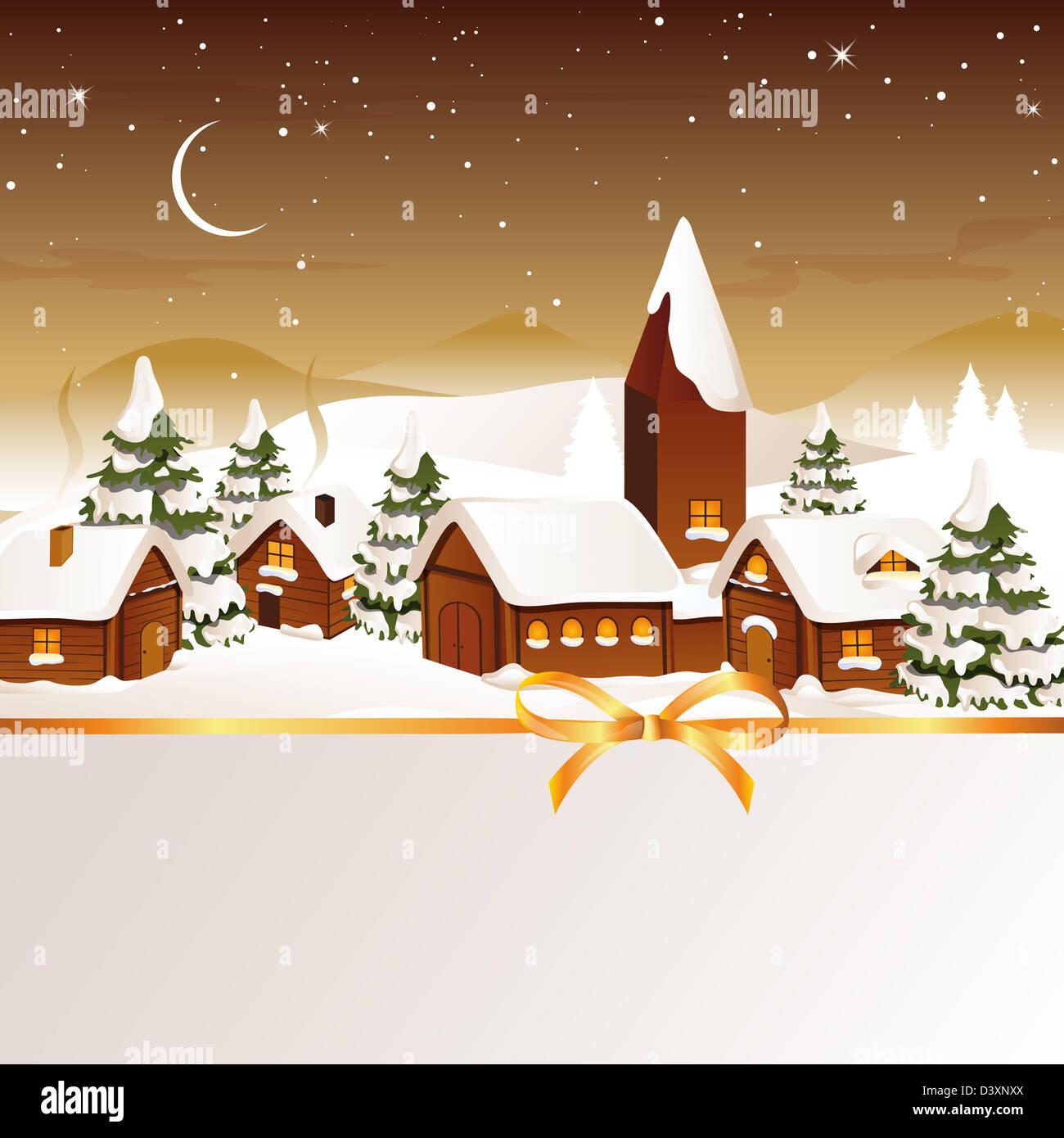 Winter scene - christmas card Stock Photo: 54063042 - Alamy