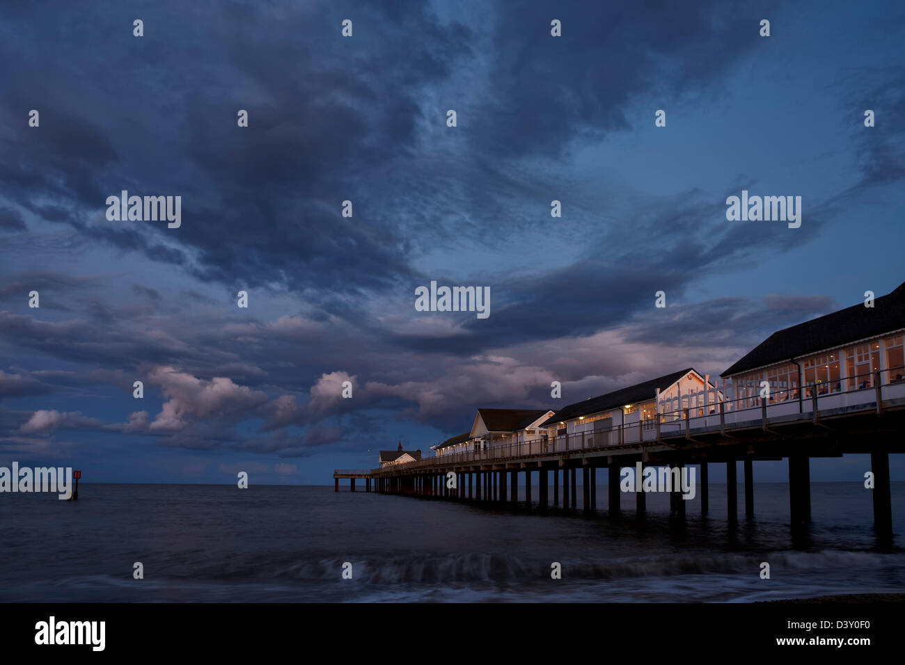 Southwold Pier at night - Stock Image