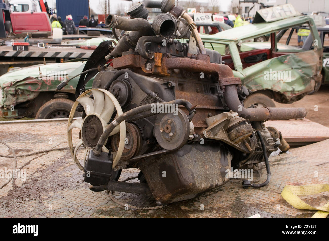 scrap engine car cars engines metal old junk scrapyard scrapyards ...