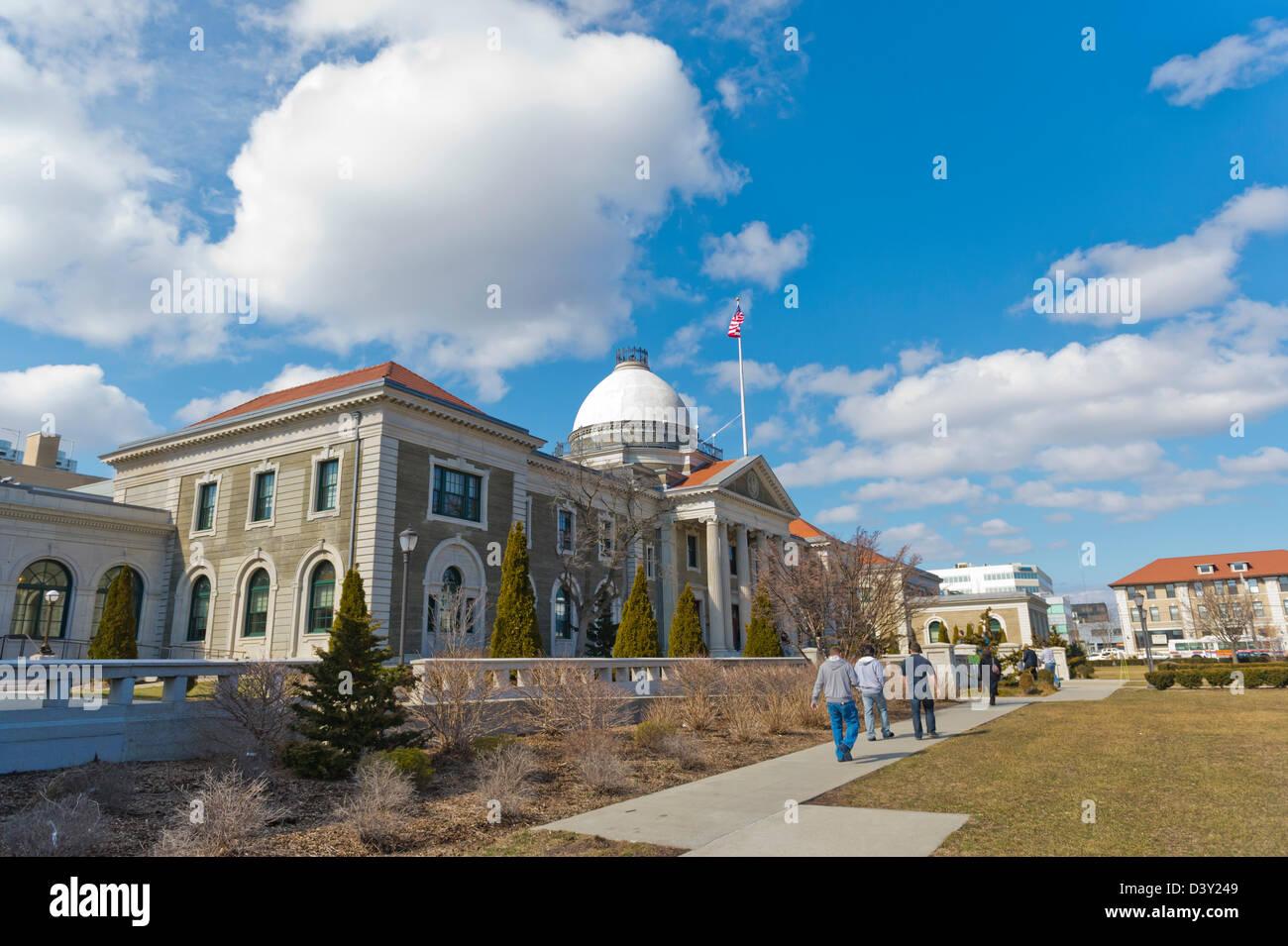 Feb. 25, 2013 - Mineola, New York, U.S. - Nassau County Legislature postpones vote on controversial Redistricting - Stock Image