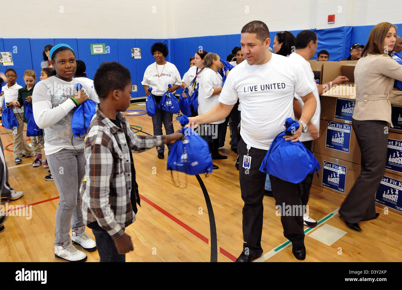 School fitness program in CT USA - Stock Image