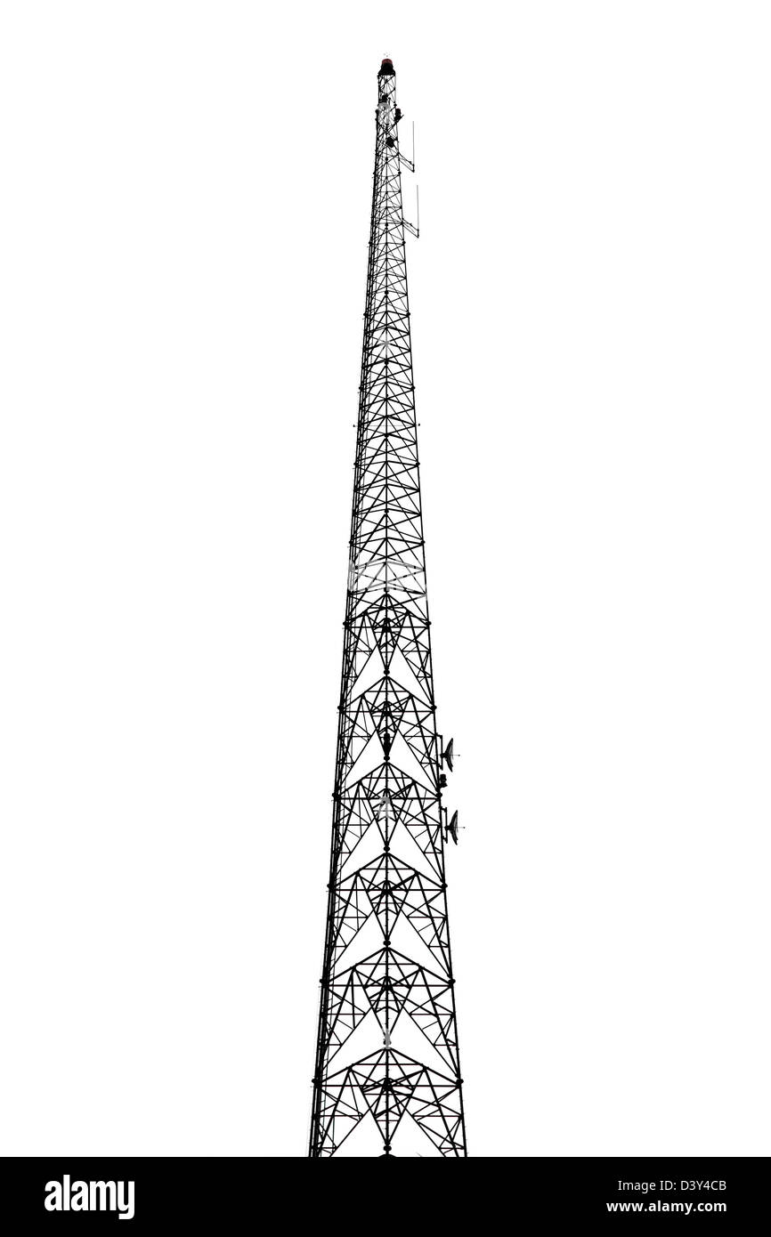 A broadcast/transmission tower. - Stock Image