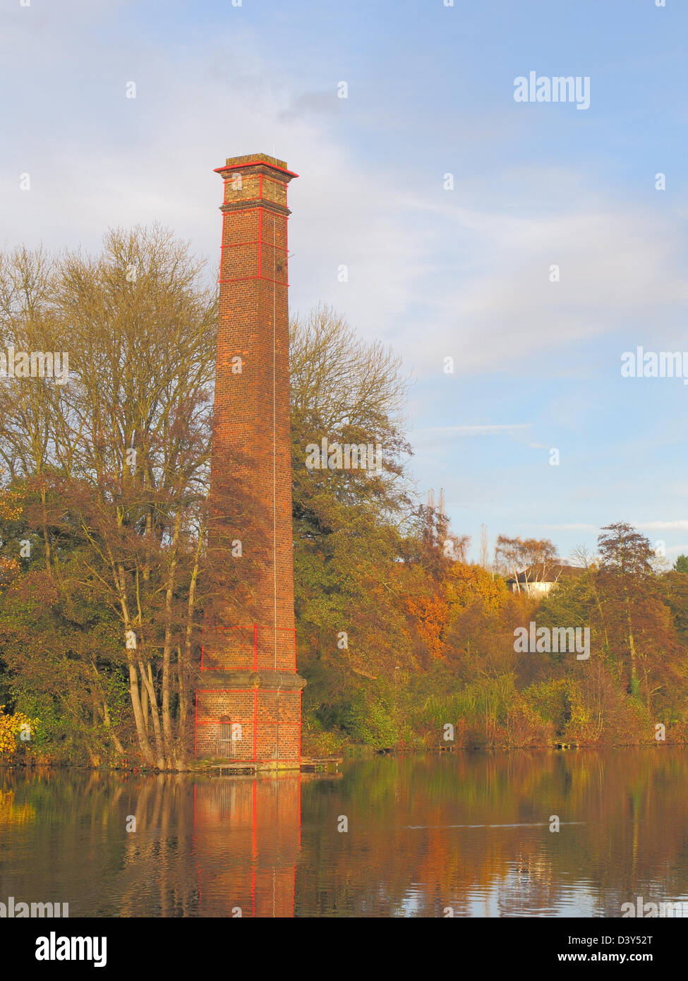 Stack Pool, Kidderminster, Wyre Forest, Worcestershire, England, UK in Autumn - Stock Image