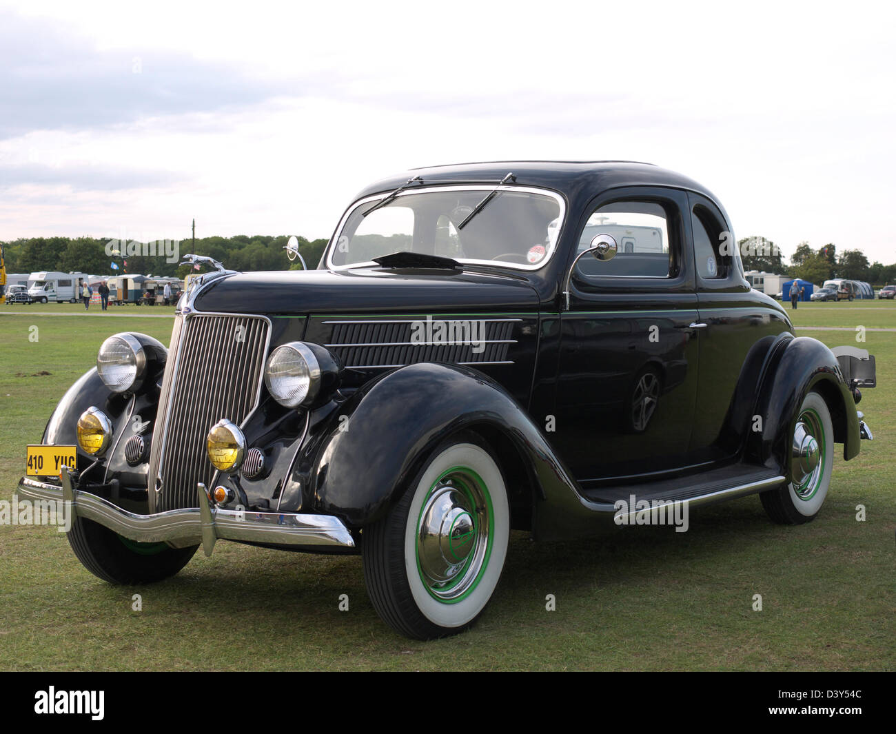 1936 ford v8 classic car at lincolnshire steam and vintage rally stock image