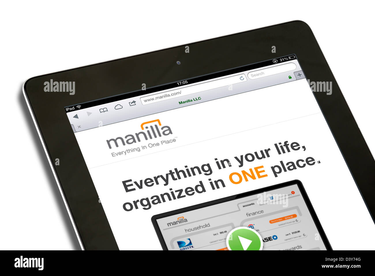 The personal financial management tool, Manilla.com, USA - Stock Image