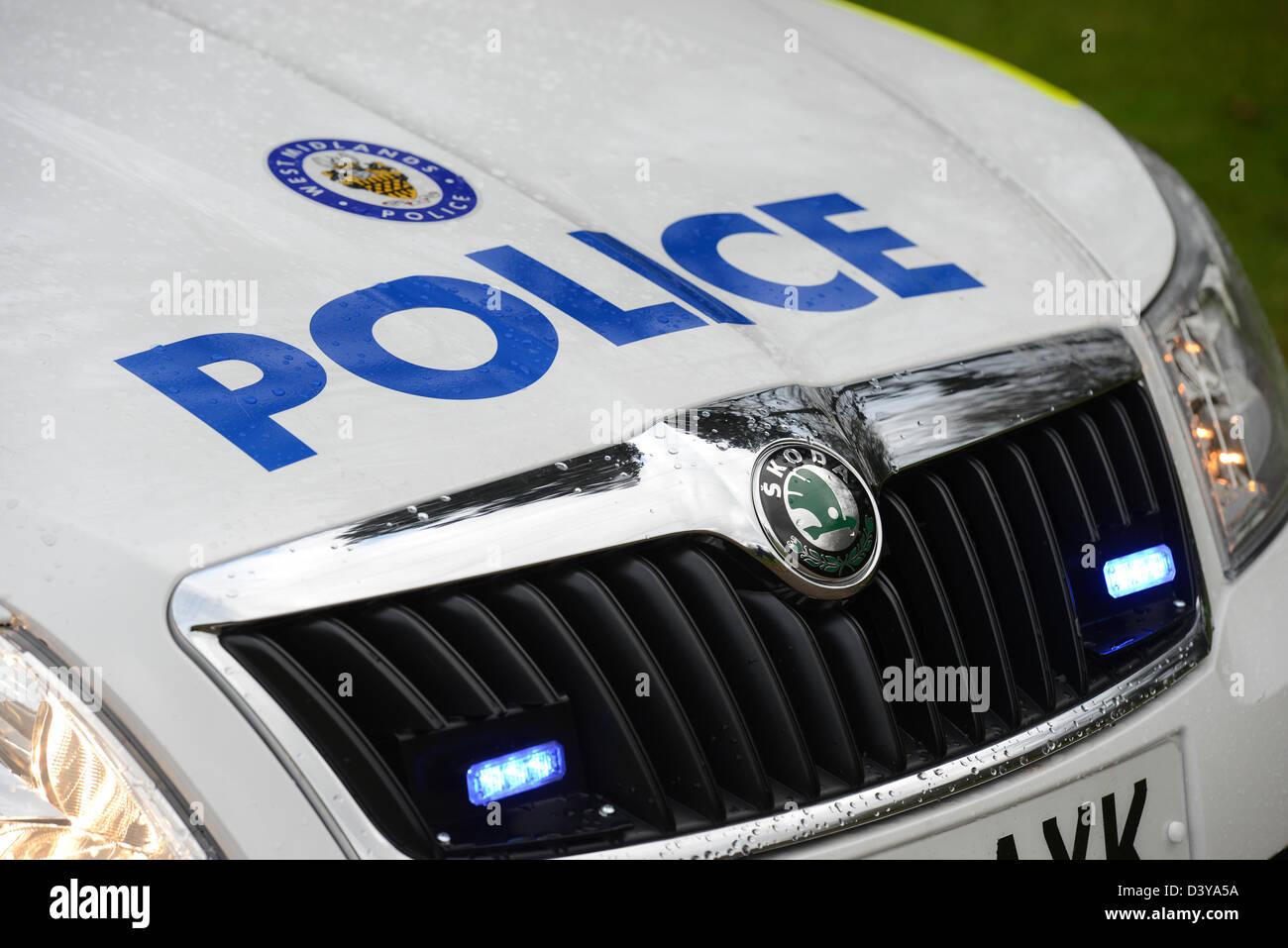 Skoda police car uk. - Stock Image