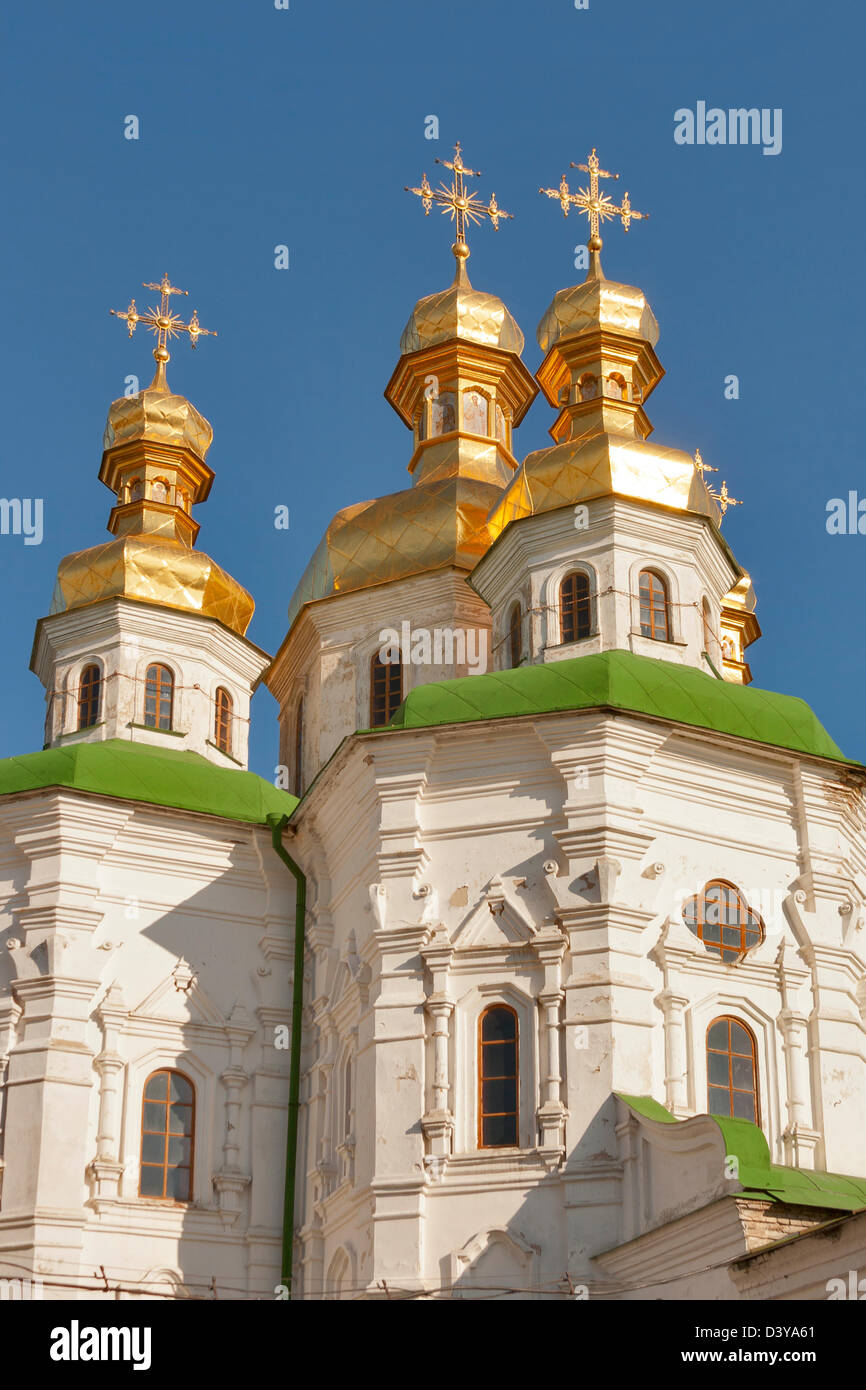 Top of the Refectory Church of the Kiev Pechersk Lavra in Kiev, Ukraine. - Stock Image
