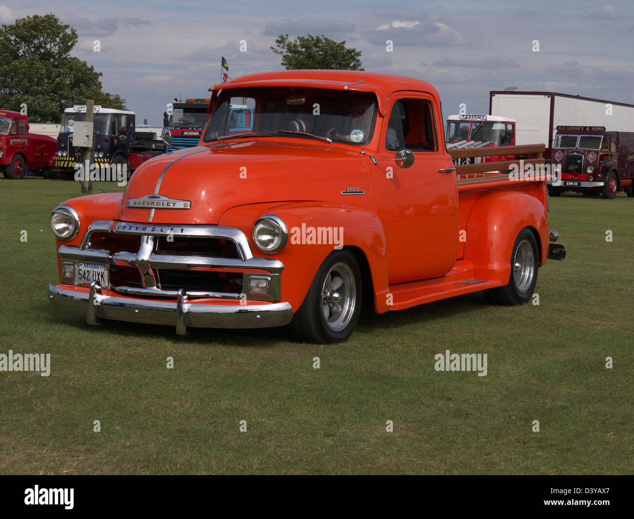 Chevrolet Van Stock Photos Images Alamy 1954 Chevy Step Stepside Pickup At Lincolnshire Steam And Vintage Rally Image