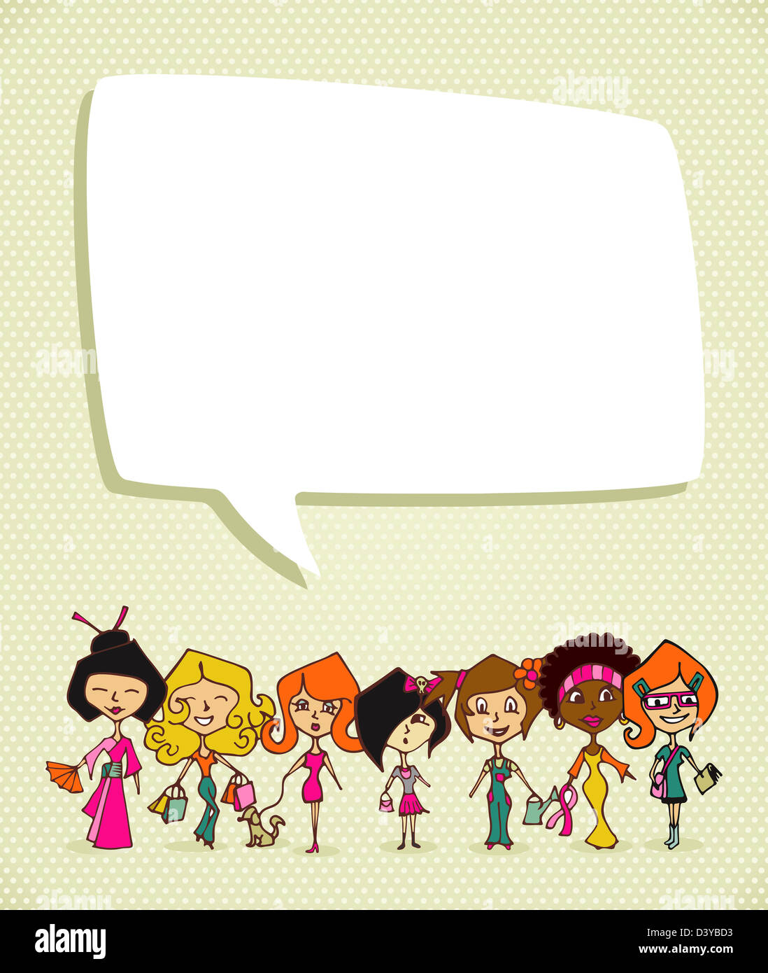 Different cultures women in 8 march woman day greeting card vector different cultures women in 8 march woman day greeting card vector file layered for easy manipulation and coloring m4hsunfo