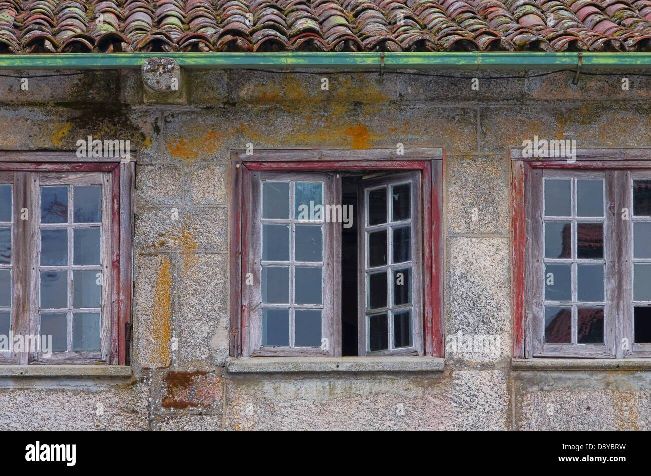 Fenster mediterran - window mediterranean 01 - Stock Image