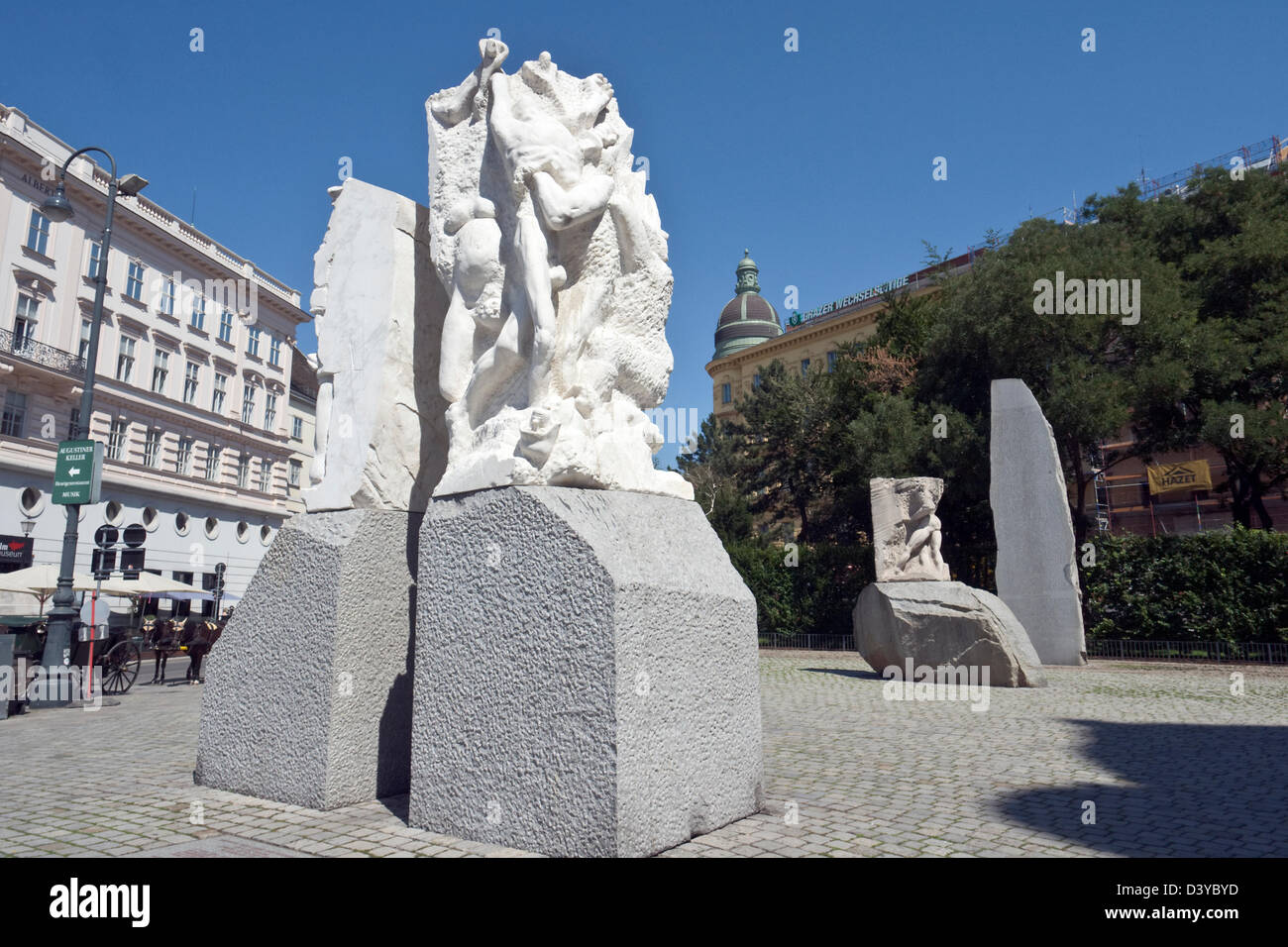 Hrdlicka monument in Vienna Stock Photo