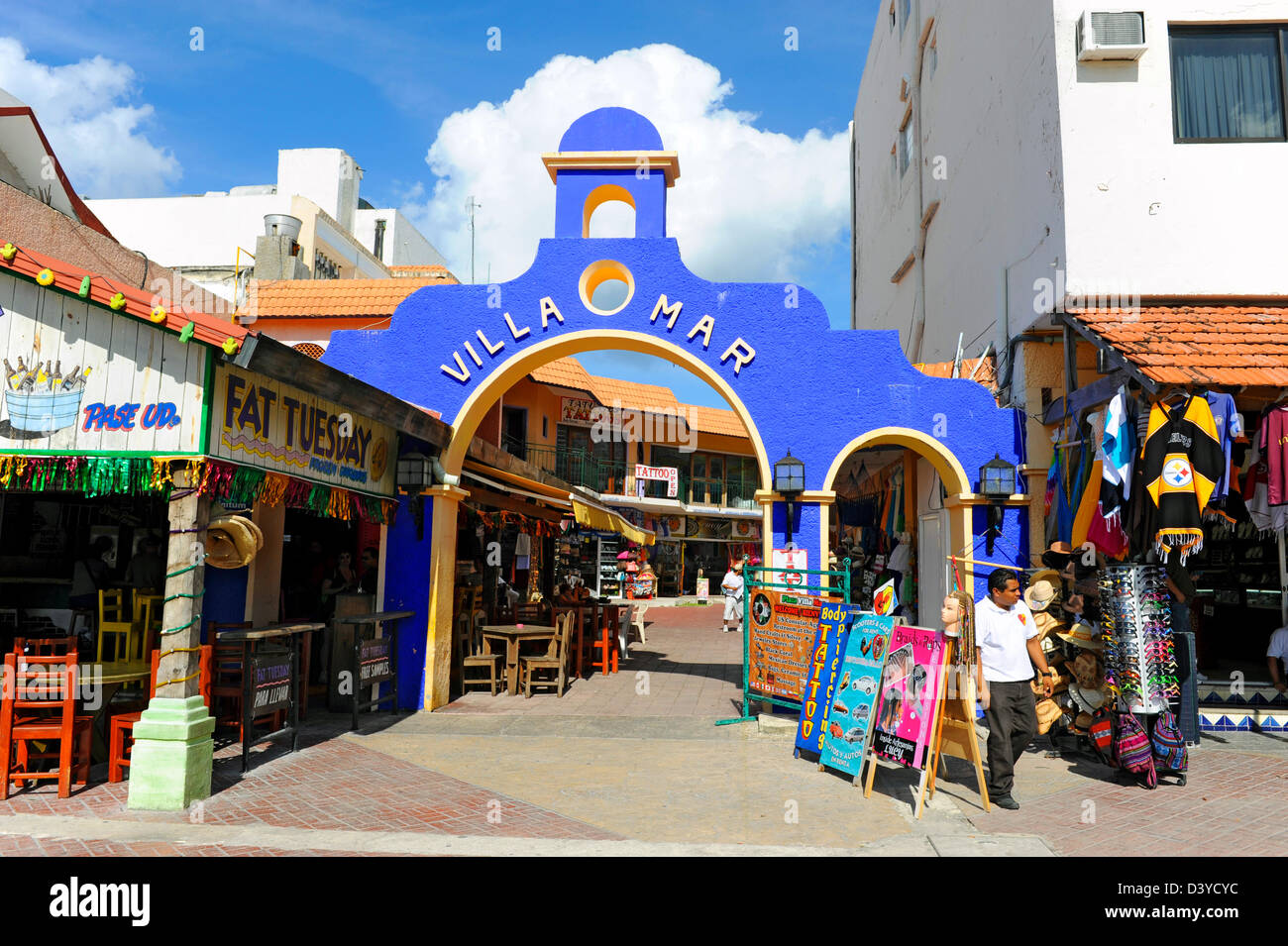 Shopping Area Cozumel Mexico Cruise Ship Port Stock Photo ... |Cozumel Mexico Stores With Boots