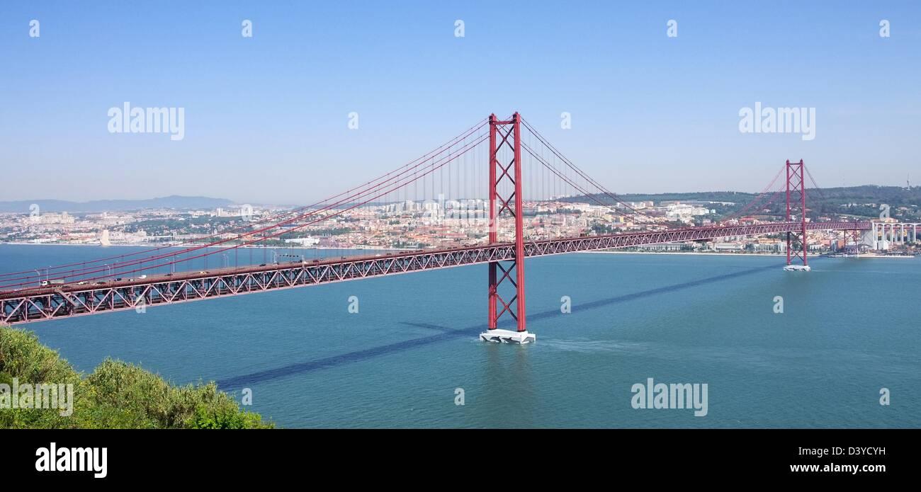 Lissabon Bruecke - Lisbon bridge 03 - Stock Image