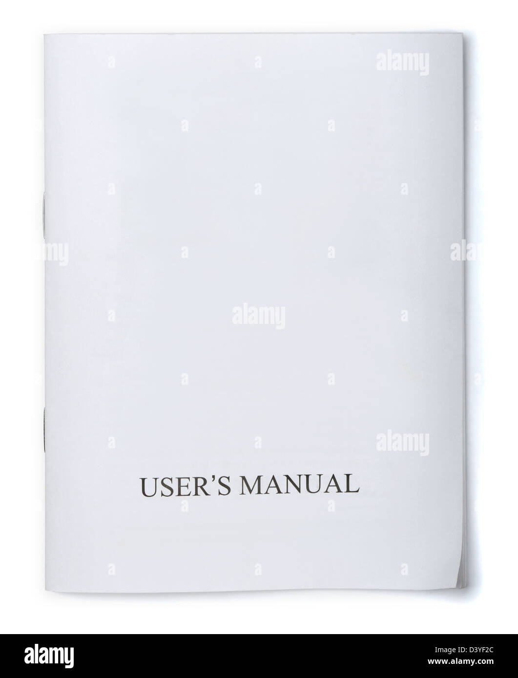 White users manual brochure isolated on white - Stock Image